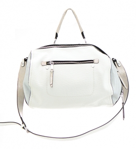 Faux Leather Shoulder HandBag JU0136 36760 White