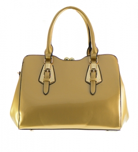Patent Leather Handbag L0254 36764 Gold