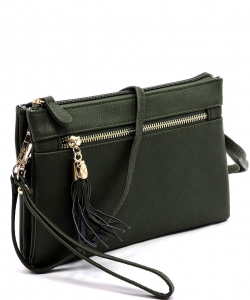 2 Compartments Messager Bag Designer  WU021 OLIVE