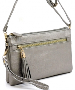 2 Compartments Messager Bag Designer  WU021 PEWTER
