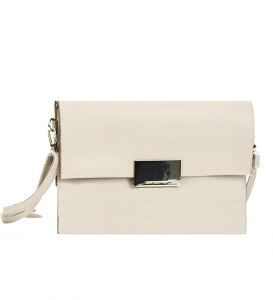 David Jones Metallic Faux Leather Clutch Purse Cm3045 36940 Beige
