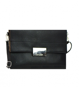 David  Jones Metallic Faux Leather Clutch Purse Cm3045 36940 Black