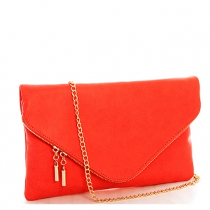 Large Clutch Design Faux Leather Classic Style WU024 36986 Red