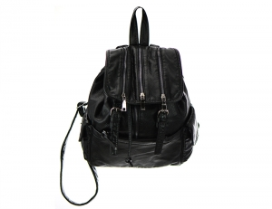 Zipper Top Backpack HBP005 37120 Black
