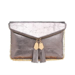 Urban Expressions Brooklyn Envelope  Leather Clutch Purse 11583A-UR 37150 Light Gold
