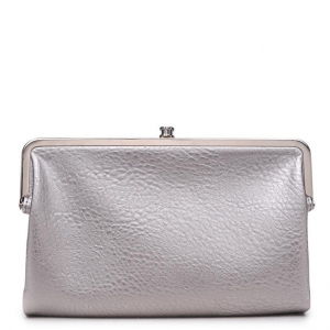 Urban Expressions Faux Leather Wallet  Metal hardware Complements Classic Style 7287A-UR  37190 Silver