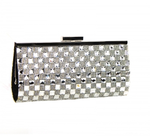 Rhinestone Embellished Clutch Purse H5511 37231 Black