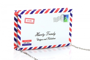 Air Mail Envelope Card Clutch  Plastic Case Clutch Purse H1602 37246