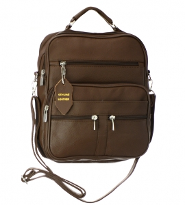 Roma Genuine Leather Messenger Bag 3753-R 37280 Brown