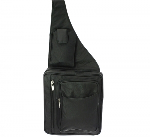 Leather Messenger Backpack RM001L-R  37283 Black