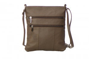 Genuine Leather Messenger Bag RM011 37285 Brown