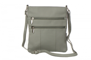Genuine Leather Messenger Bag RM011 37285 Grey