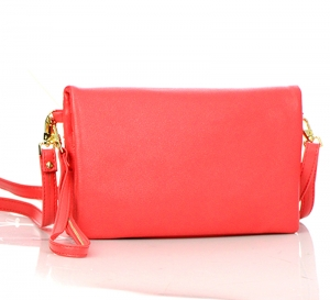 Faux Leather Wallet CH711-DP 37330 Coral
