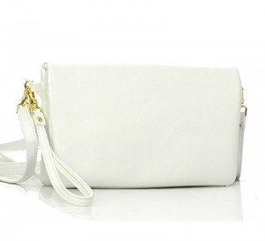 Faux Leather Wallet CH711-DP 37330 White