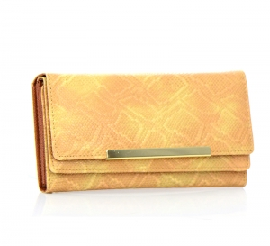 Faux Leather Wallet, WCBK913 37414 Tan