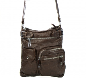 Vegan Leather Crossbody Hobo Messenger Back-Pack  30296-MEI 37425  Coffee