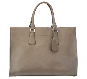 David Jones  Faux Leather Shoulder Hand Bag  CM8077 37501 Dark Taupe