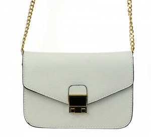 Faux Leather Clutch Purse LS0377 37536 White