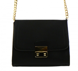 Faux Leather Clutch Purse LS0375 37569 Black