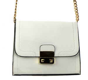 Faux Leather Clutch Purse LS0375 37569 White