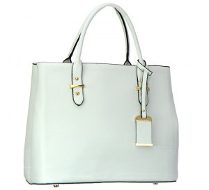 Animal Skin Faux Leather Handbag LT1110 37588 White