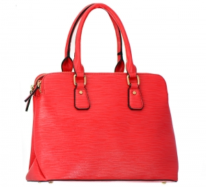 Vegan Leather Handbag T1580 37615 Red