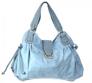 Faux Leather  Shoulder Hand Bag CM23743 37646 Light Blue