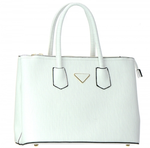 Faux Leather  Shoulder Hand Bag MY8772 37655 White