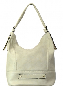 Faux Leather Hobo Shoulder Bag RM2251 37669 Khaki