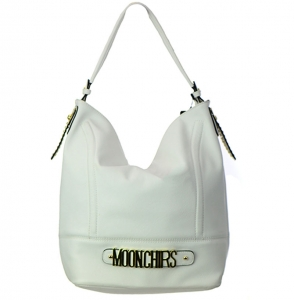 Faux Leather Hobo Shoulder Bag RM2251 37669 White