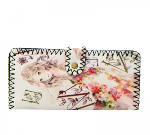 European Print Faux Leather Wallet GWT99-1854 37684