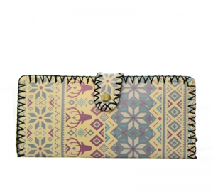 European Print Faux Leather Wallet GWT99-1859 37686
