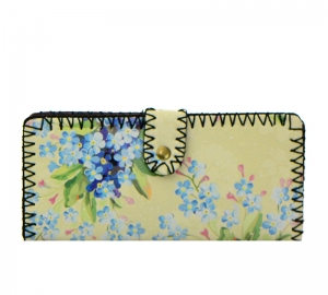 Flower Print Faux Leather Wallet GWT99-1936 37692