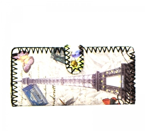 Paris Postcard Print  Faux Leather Wallet GWT99-1944 37693