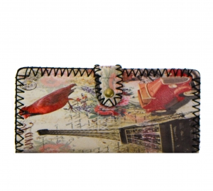 Paris Print Faux Leather Wallet GWT99-1944 37693