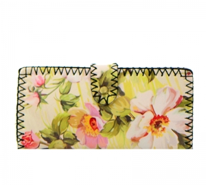 Rose Print Faux Leather Wallet GWT99-1957 37695