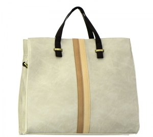 Faux Leather Tote Bag UN0052 37716 Offwhite