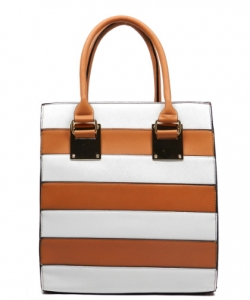 Striped Faux Leather  Shoulder Hand Bag MY6186