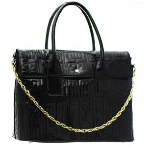 Patent Leather Shoulder Hand Bag LP2508 37772 Black