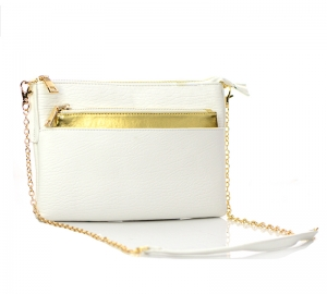 Foil Shine Clutch Purse BGW15952 37797 White.