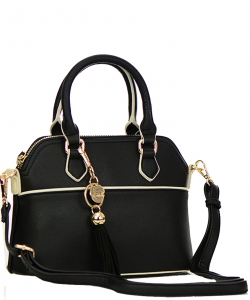 Faux Leather Hand Bag K1040 37810 Black