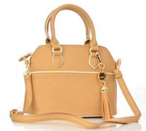 Faux Leather Hand Bag K1040 37810 Nude