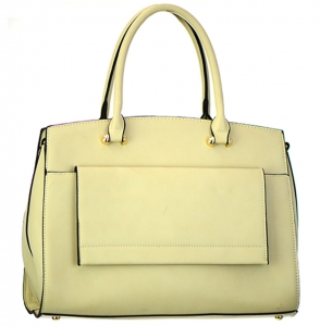 Faux Leather  Shoulder Hand Bag MY6194 37825 Beige