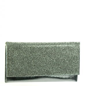 Rhinestone embellished Clutch Purse HD2377 37831 Silver