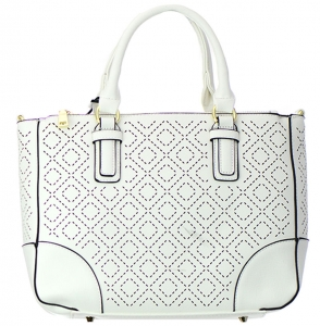 Faux Leather  Shoulder Handbag T1630  37846 White