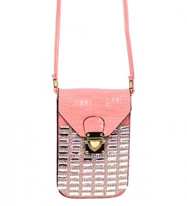 Rhinestone Clutch Purse H16001 37863 Pink