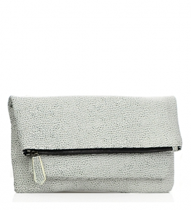 Urban Expressions: Fiona Style Clutch Leather 11773-UR  37920 Black/Whiite