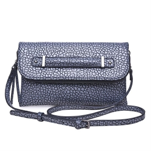 Urban Expressions: Gun Metal Style Saint Clutch  Leather 11924-UR 37928 Gun Metal