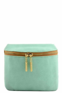 Vegan Leather Clutch Bag WUO33 37984 Aqua