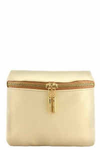 Vegan Leather Clutch Bag WUO33 37984 Beige